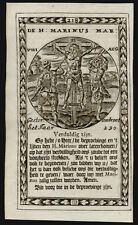 santino incisione 1600 S.MARINO DI ANAZARBO M.