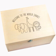 """Welcome To The World"" Personalised Keepsake Memory Box - Baby Shower Gift"
