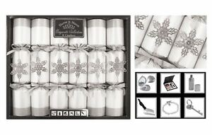 Christmas Crackers Box of 6 Luxury Exquisite Range Harvey Mason 13.5' Barrelled