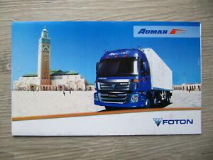 FOTON Auman ETX Lkw Prospekt aus Marokko African Truck brochure Katalog Maroc