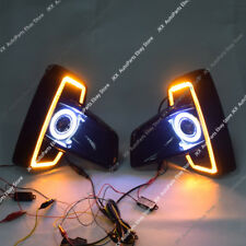 For Toyota Hilux Revo Rocco 2018 Daytime Lamp Fog Light DRL+COB Angel Eye Kit