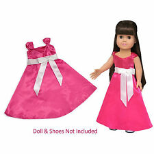 """SF Springfield PINK PARTY DRESS Evening Ball Gown for 18"""" American Girl Doll NEW"""