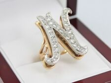 Diamond Ring 18ct Gold Cluster Ladies Letter N Name Ideal Gift Size L 12 J60