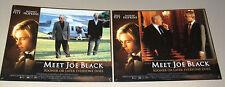 "{Set of 8} MEET JOE BLACK {Anthony Hopkins} 11 x 14"" Orig. Film Lobby Card 90s"