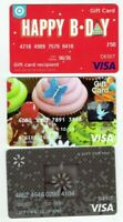 Credit Debit Charge Gift Cards - LOT of 3 Different / Cupcakes, B-Day - No Value
