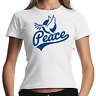 Peace Friedenstaube Frieden Dove of Demo Politik Women Lady Damen Girlie T-Shirt