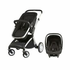 mumcare 3 in 1 PushChair Buggy Car Seat Combo Roam Four Wheel Base Pack (Silver)