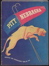 11/18 1939 PITT UNIVERSITY OF PITTSBURGH NEBRASKA OFFICIAL GAME PROGRAM VG/EX