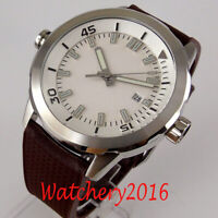 45mm Sterile Dial Rotating Sapphire Date Luminous Automatic Movement mens Watch