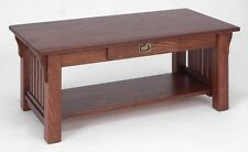 #165 Solid Oak Mission Coffee Table