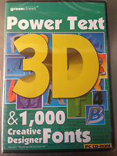 Greenstreet Power Text 3D & 1,000 Creative Designer Fonts