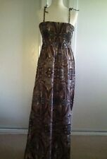 papaya cotton maxi paisley print dress size 10 BNWT