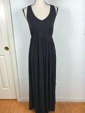 LIZ LANGE MATERNITY WOMEN SZ M BLACK CROCHET RAZOR UMPIRE  LONG DRESS 1/36H
