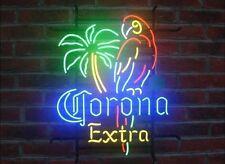 Style Corona Extra Parrot Bird Left Palm Tree Neon Sign Beer Bar Light 20''x16''