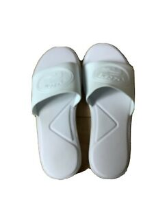 White Lacoste Sliders Size 5