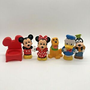 Fisher Price Little People Disney Mickey Minnie Goofy Pluto Donald Chair Lot