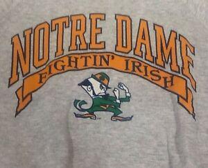 St756 All-American Activewear Gray Notre Dame Fighting Irish Sweater XXL