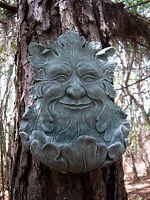 Green Man Face, Succulent Planter, Bird Feeder, Concrete Face, Tree Man Face