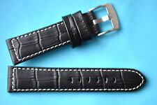 Cinturino orologio compatibile Panerai 22mm nero Coccodrillo Stile