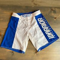 MMA UFC Warrior International Mens Mixed Martial Arts Shorts Blue White 30