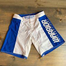 Warrior International Mens Mixed Martial Arts Shorts Blue White Mma Ufc 30