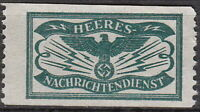 Stamp Germany Revenue WWII Emblem War Newspaper Tax Faulty