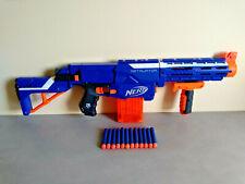 Pistolet Fusil Sniper NERF N-STRIKE // RETALIATOR Bleu 65cm + 12 Fléchettes