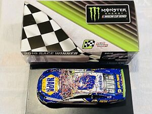 CHASE ELLIOTT HAND SIGNED 2019 NAPA ROVAL RACE WIN NASCAR 1/24 CAR!!!!!