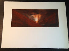 """Laddie John Dill """"Arial Landscape 1"""" Etching, Hand Signed/Numbered Limited Ed"""