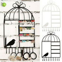 Jewelry Necklace Earring Organizer Metal Wall Hanging Display Stand Rack Holder