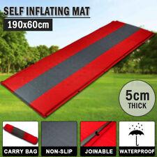 Self Inflating Mattress Sleeping Pad Mat Air Bed Camping Camp Hiking Joinable Re