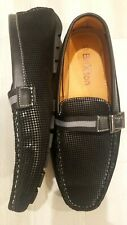 MEN'S BRIXTON slip on BLACK LOAFERS DRIVING MOCCASINS COMFORT SHOES 13 New