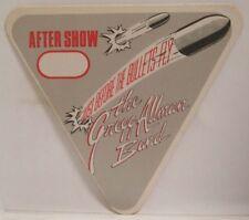 Gregg Allman Band - Gregg - Original Concert Tour Cloth Backstage Pass