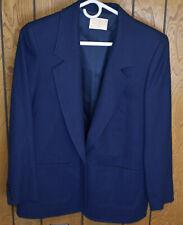 New listing Vintage Women's Pendleton Navy Blue Blazer Size 8, Single Button, Very Nice!