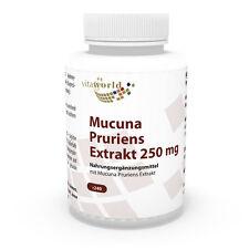 Vita World Juckbohne Extrakt 250mg 240 Kapseln Mucuna Pruriens