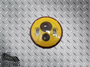 "Harley Davidson 7"" Yellow LED Headlight - Custom Background Daymaker Light  Bulb"