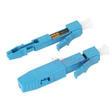 100pcs LC UPC FTTH Rapid Optical Fiber Connector SM 0.9mm Fast Connector