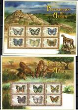 [ZAM] ZAMBIA 2000 BUTTERFLIES OF AFRICA. SET OF 2 SHEETS OF 6 STAMPS.