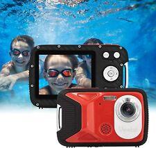Unterwasserkamera Fotografieren Wasserdicht Kinder Urlaub Digital 1080P Rot