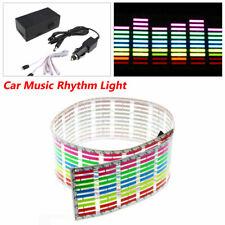 Car Sticker Music Rhythm Colorful LED  Flash Light Sound Activated Equalizer 12V