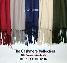 Cashmere Scarf Warm Wrap Soft Pashmina Wool Scarf Cashmere Shawl 12 Colours