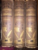Antique Curiousities of Literature Volumes 1-2+3 Book (Isaac Disraeli) 1860