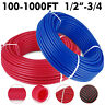 "Oxygen Barrier 1/2""X100-300 1000ft Red Blue Pex Tubing/Pipe Pex-B Potable Water"
