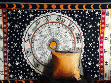 Indian Tapestry Wall Hanging Mandala Throw Hippie Horoscope Zodiac Astrology New
