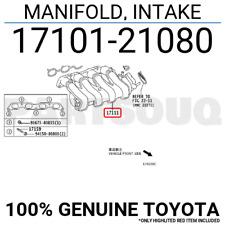 1710121080 Genuine Toyota MANIFOLD, INTAKE 17101-21080