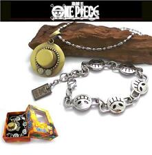 Anime One Piece Ace Bracelet And Necklace Cosplay Pendant Gift