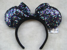 New Disney Parks Minnie Mouse Multiple Sequin Ears Bow Headband Party Costume