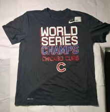 2016 Chicago Cubs World Series Champions Authentic Nike Dri-Fit T-Shirt XL New!