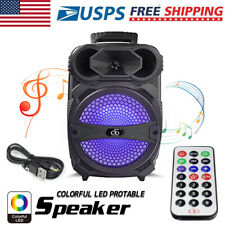 """8"""" Party Bluetooth Speaker 1000 Watts System Led Portable Stereo Tailgate Loud"""