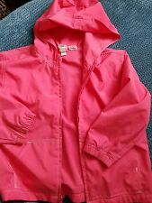 GAP girl 5 years 4-5 years pink hooded jacket cagoule windproof lightweight